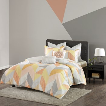 Annalise 7 Piece Cotton Duvet Cover Set