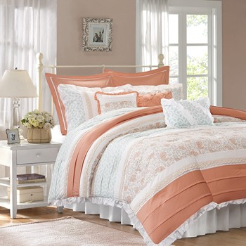 Dawn 9 Piece Cotton Percale Comforter Set