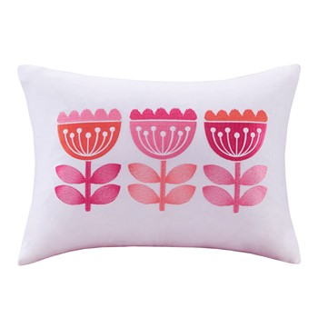 Harriet Embroidered Oblong Pillow
