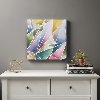 Watercolor Prism 1 Gel Coat Canvas
