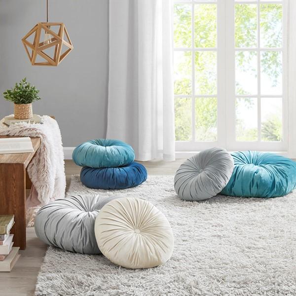 Balan Poly Velvet Round Floor Pillow Cushion