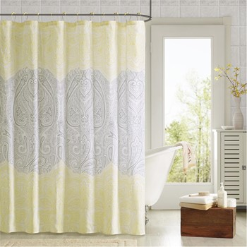 Naomi Printed Shower Curtain and Hook Set