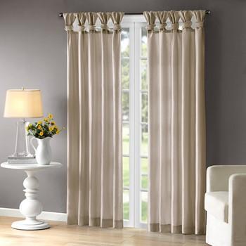 Emilia Twist Tab Lined Window Curtain