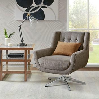 Nina Swivel Lounge Chair, Star Based Swivel