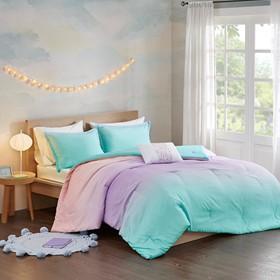 Glimmer Metallic Glitter Printed Reversible Comforter Set