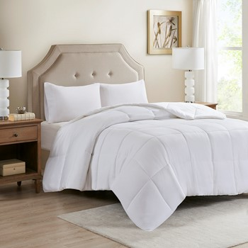 Cotton 300TC Cover Tencel® Filled Down Alternative Comforter Antimicrobial BI-OME Odor Eliminator