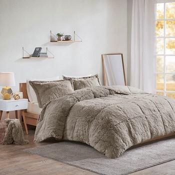 Malea Shaggy Faux Fur Comforter Set
