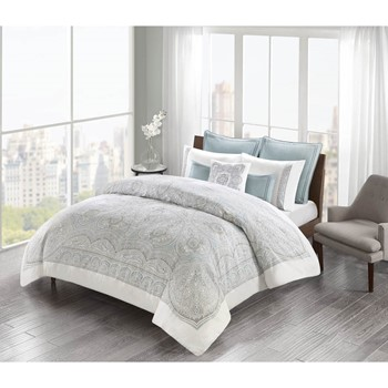 Larissa Cotton Sateen Duvet Cover Set