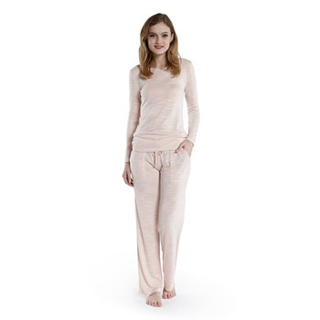 Fancy Slub Long Sleeve Pajama Set