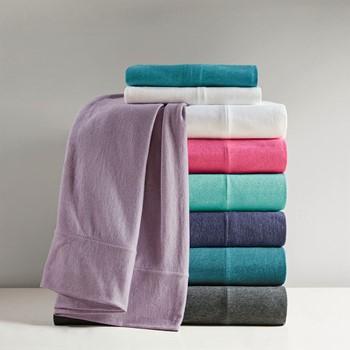 Cotton Blend Jersey Knit All Season Sheet Set