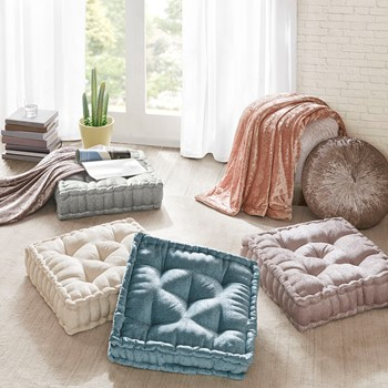 Azza Poly Chenille Square Floor Pillow Cushion