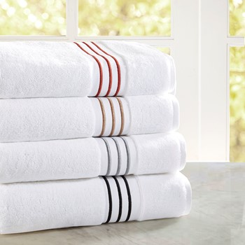 Elloy Embroidered Cotton Towel Set