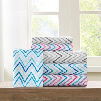Multicolor Chevron Microfiber Printed Sheet