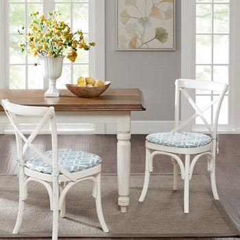 Delray Diamond Printed Diamond Chair Pad Pair