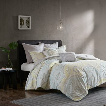 Matti 7 Piece Cotton Duvet Cover Set