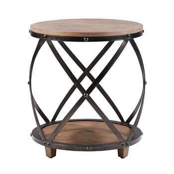 Cirque Bent Metal Accent Table
