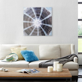 Paris Skylight Printed Canvas With Glass Coat