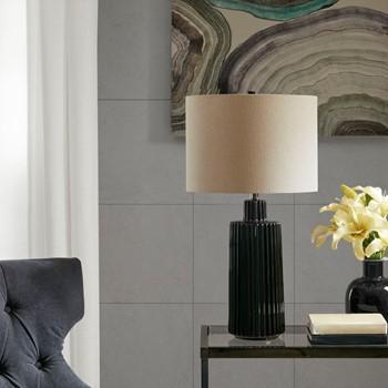 Winston Black Ceramic Table Lamp