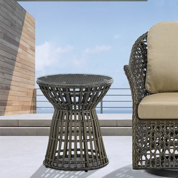 Corrynn Wicker Outdoor Accent Table