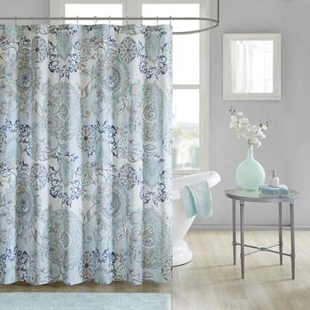 Madison Park Isla Cotton Printed Shower Curtain