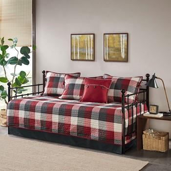 Ridge 6 Piece Reversible Daybed Cover Set