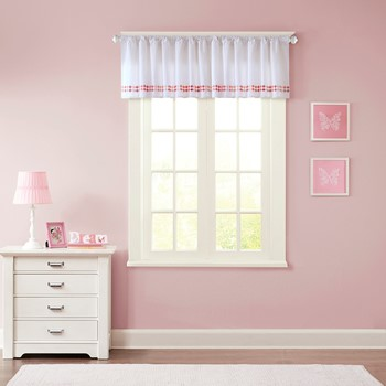 Mayago Embroidered Cotton Window Valance