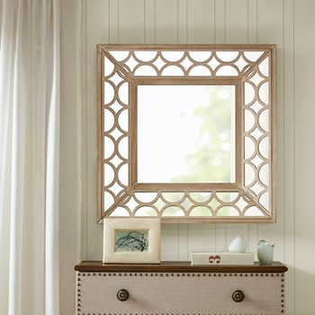 Avalon Scallop Wood Frame Mirror