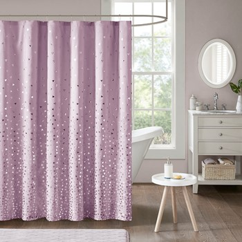Zoey Metallic Printed Shower Curtain