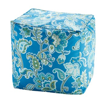 Carillo Printed Floral 3M Scotchgard Outdoor Pouf