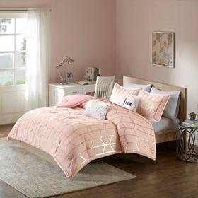Raina Metallic Printed Comforter Set