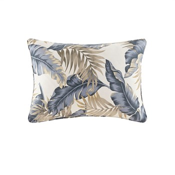 Coco Printed Leaf 3M Scotchgard Outdoor Oblong Pillow