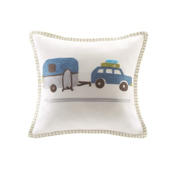 Shasta Embroidered Square Pillow