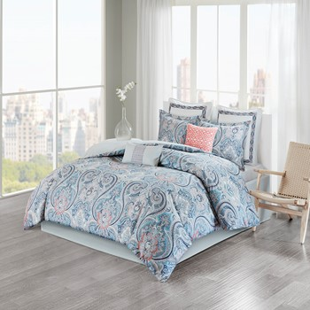 Avalon Cotton Sateen Reversible Comforter Set