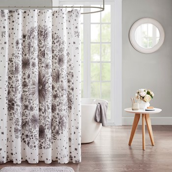 Emma Printed Medallion Shower Curtain