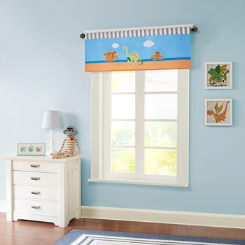 Dinosaur Dreams Printed and Applique Valance