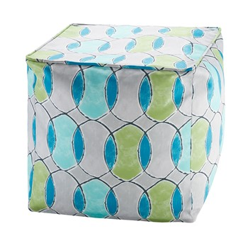 Gaviota Printed Circles 3M Scotchgard Outdoor Pouf
