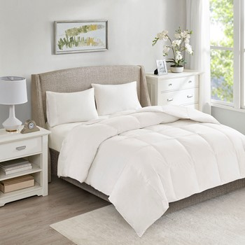 All Season Warmth Oversized 100% Cotton Down Comforter