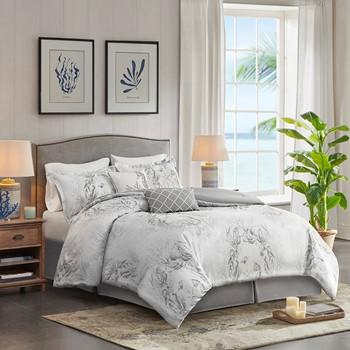 Sea Breeze 6-Piece Cotton Sateen Comforter set