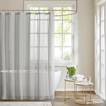 Anna Sheer Shower Curtain