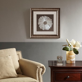 Bloom Decorative Embroidery Wall Art Flower