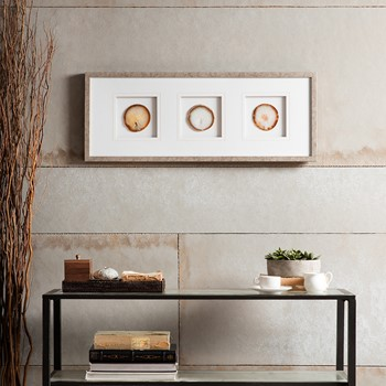 Natural Agate Trio Stone Framed Graphic